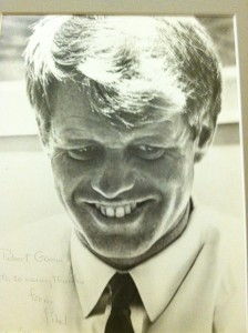RFK photo sent to RLG from Ethel after assisination