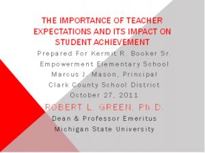 importance_teacher_expectations_and_student_achievement_ppt